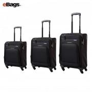 مجموعه چمدان آمریکن توریستر مشکی-BROOK-04O