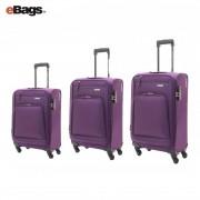 مجموعه چمدان آمریکن توریستر بنفش -BROOK-04O