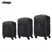مجموعه چمدان کاملینت مشکی KAPA AY9