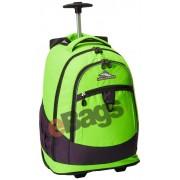 کوله پشتی چرخدار با لپ تاپ 17 اینچ های سیرا سبز CHASER