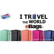 مجموعه چمدان آمریکن توریستر مشکی-Cube pop-S46