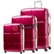 مجموعه چمدان آمریکن توریستر صورتی-Cube pop-S46
