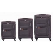 مجموعه چمدان کاملینت قهوه ای ZAMBIA-81W